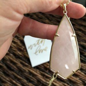 Kendra Scott Rose Quartz Carole necklace